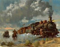Gallery Image of Chasing the Iron Horse Art Print