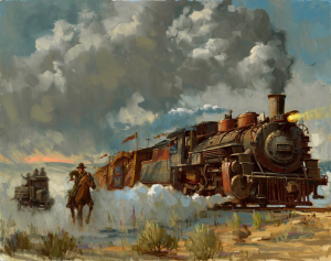 Chasing the Iron Horse Art Print
