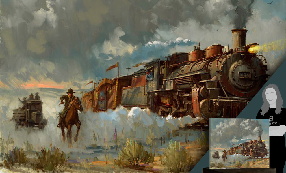 Gallery Feature Image of Chasing the Iron Horse Art Print - Click to open image gallery