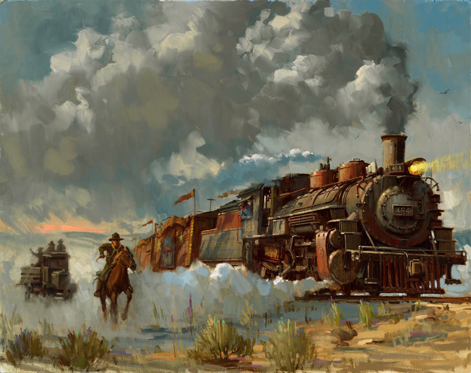 ACME Archives Chasing the Iron Horse Art Print