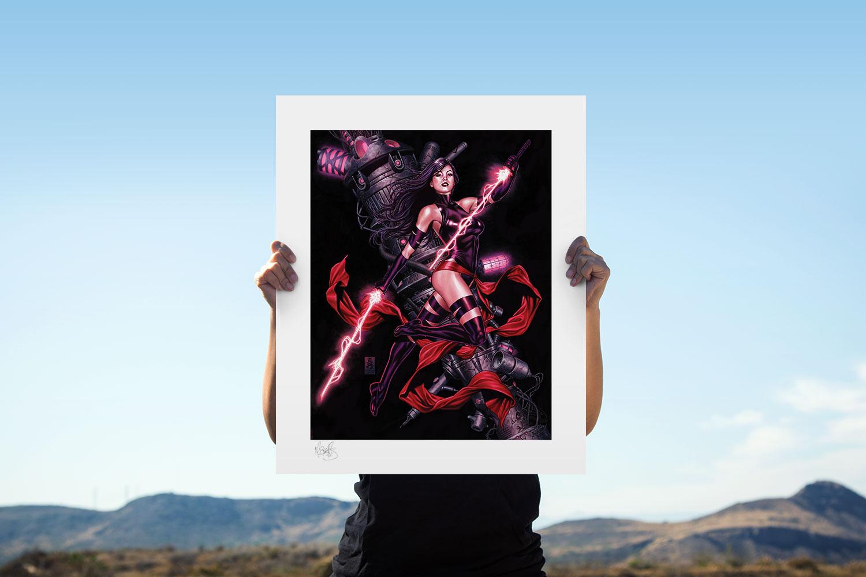 Psylocke Art Print feature image