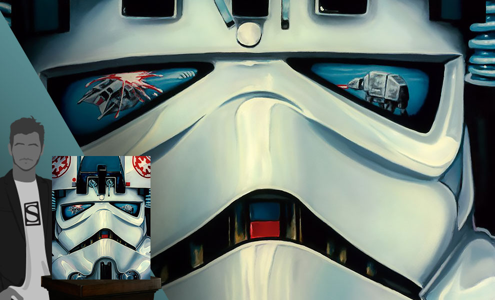 Gallery Feature Image of AT-AT Driver Art Print - Click to open image gallery
