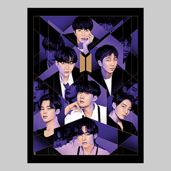BTS: BE - Purple Edition Art Print