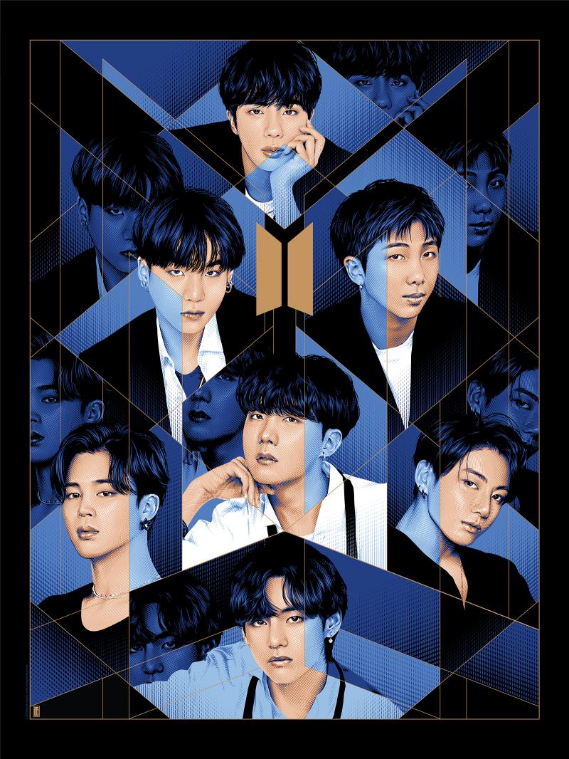 BTS: BE Art Print - Screenprint