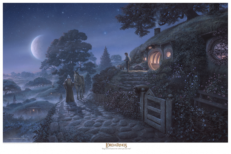 Bag End: Expect Me When You See Me! Art Print - 24 x 36 Epic Size Fine Art Giclee on Archival Art Paper