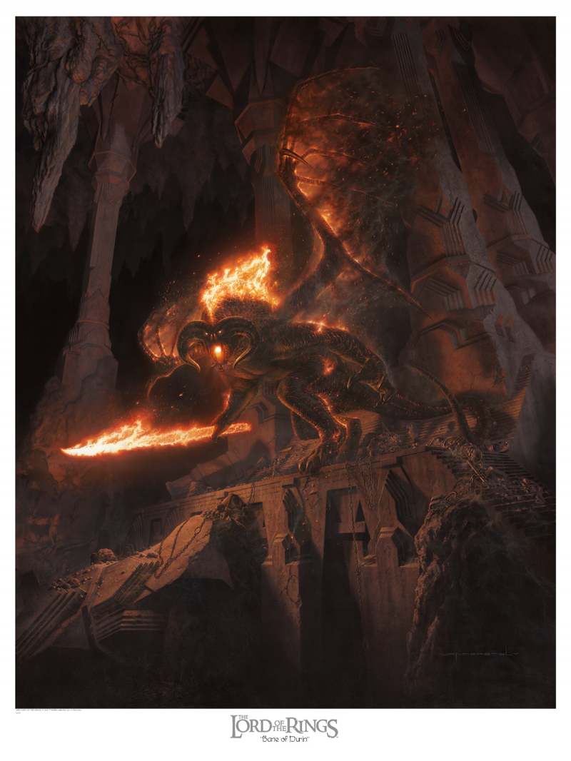 Bane of Durin Art Print - 28 x 36 Epic Size Fine Art Giclee on Archival Art Paper