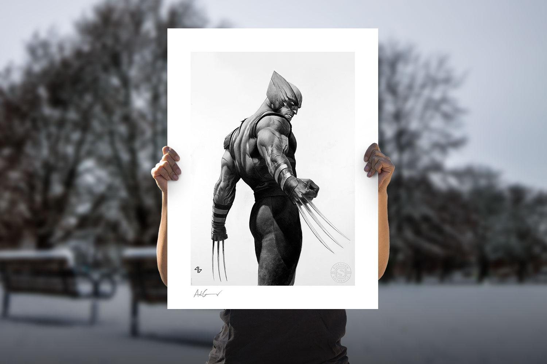 Wolverine - Black & White Variant Art Print feature image
