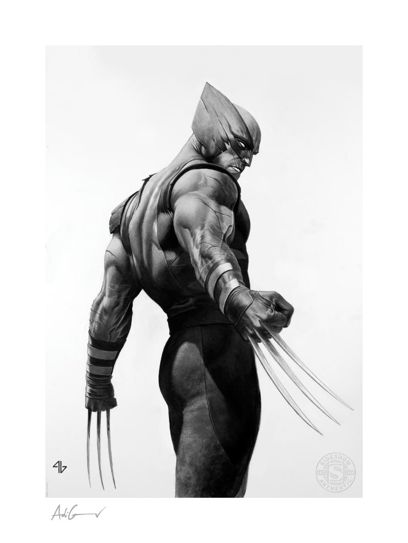 Wolverine - Black & White Variant Art Print -