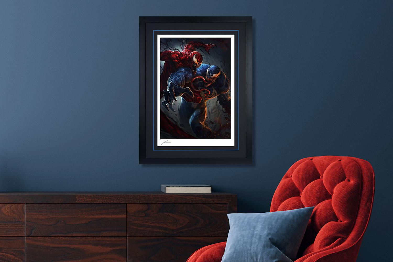 Venom vs Carnage Art Print feature image