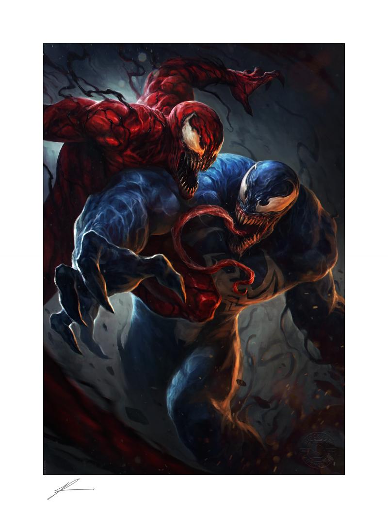 Venom vs Carnage Art Print -