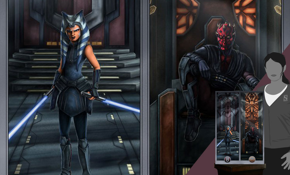 Gallery Feature Image of Face Off On Mandalore Art Print - Click to open image gallery