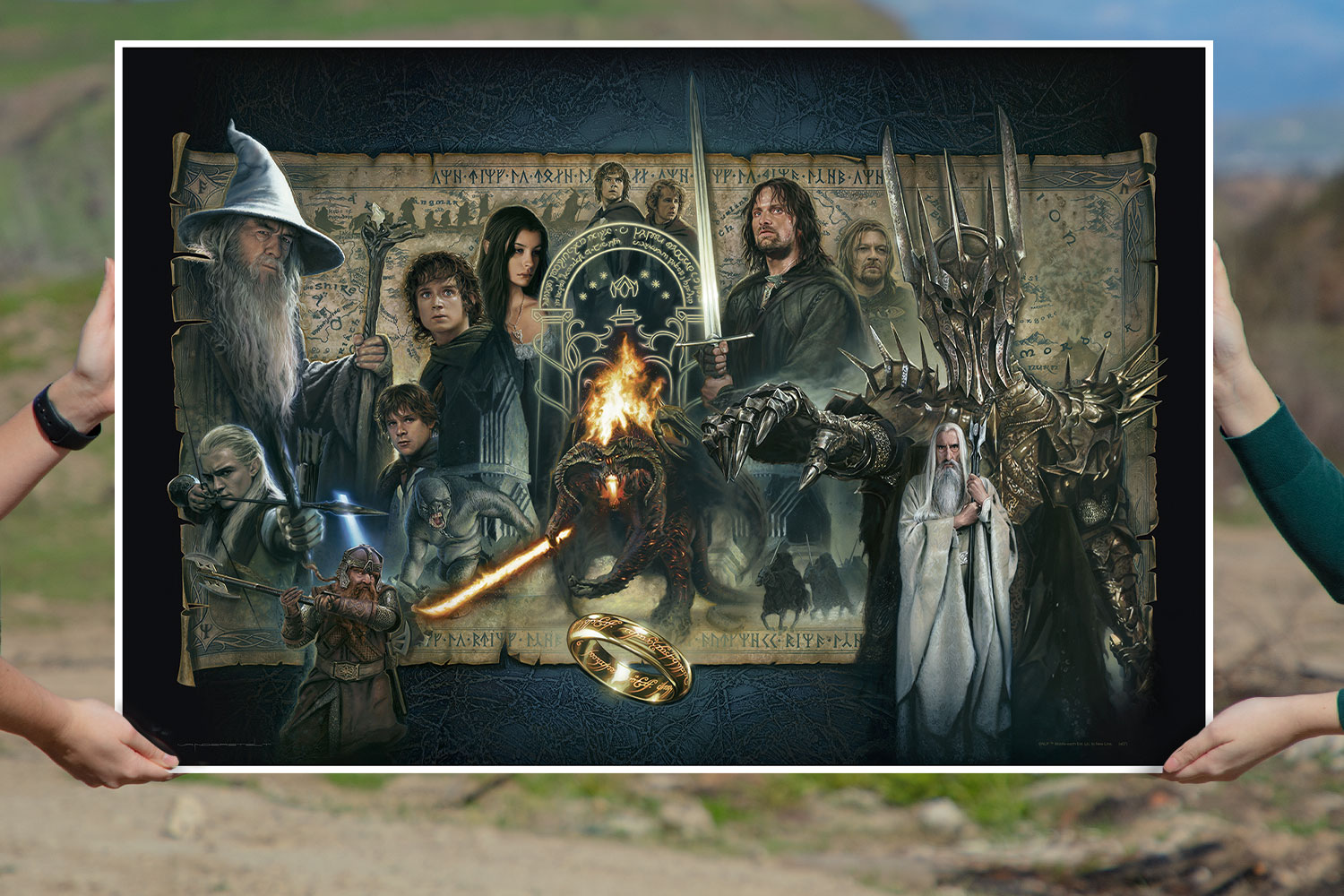 The Fellowship of the Ring Art Print feature image