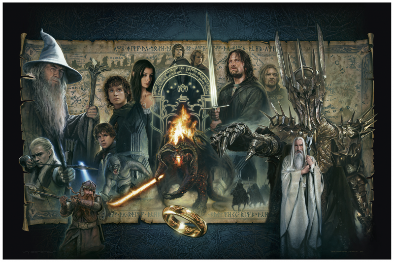 The Fellowship of the Ring Art Print - 24 x 36 Paper Giclee