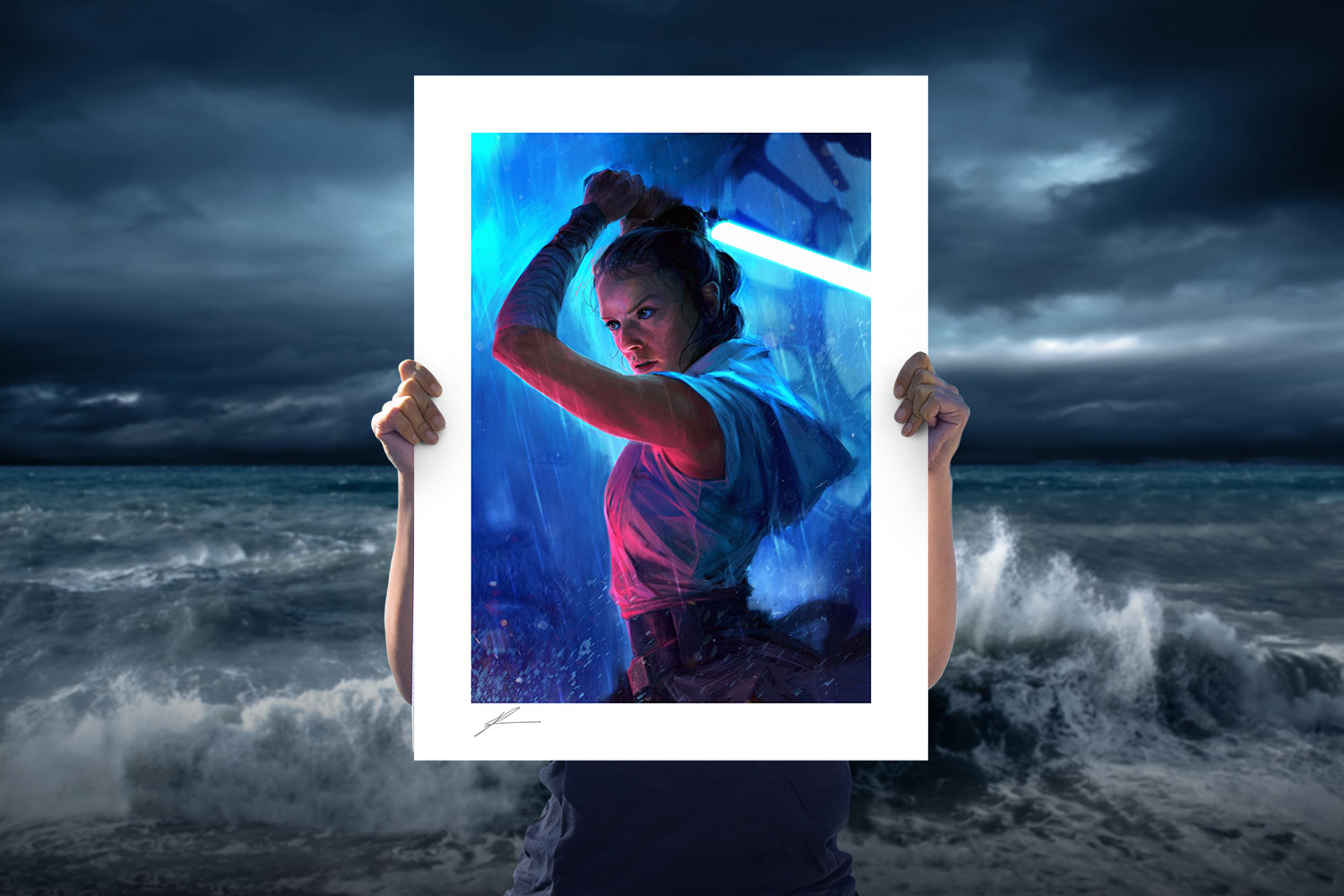 The Duel: Rey Art Print feature image