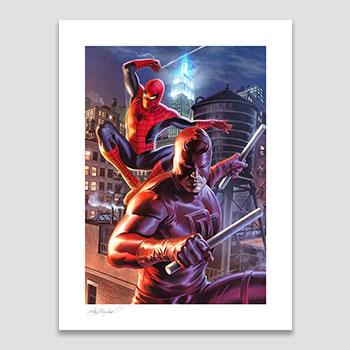 Daredevil & Spider-Man Art Print