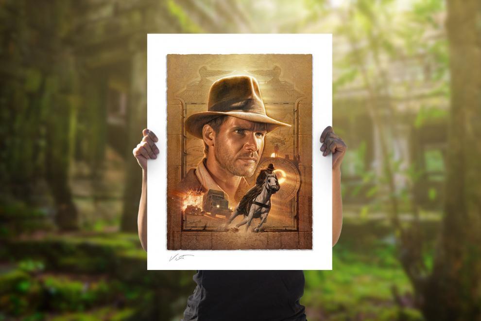 Indiana Jones: Pursuit of the Ark Fine Art Print by Jerry Vanderstelt