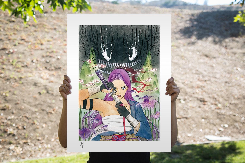 Demon Days: X-Men Psylocke Art Print feature image