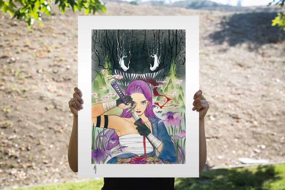 NOW SHIPPING Demon Days: X-Men Psylocke Art Print by Peach Momoko