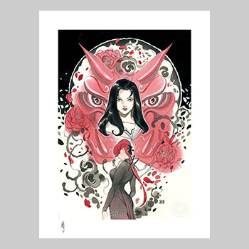 Demon Days: Mariko & Black Widow Art Print