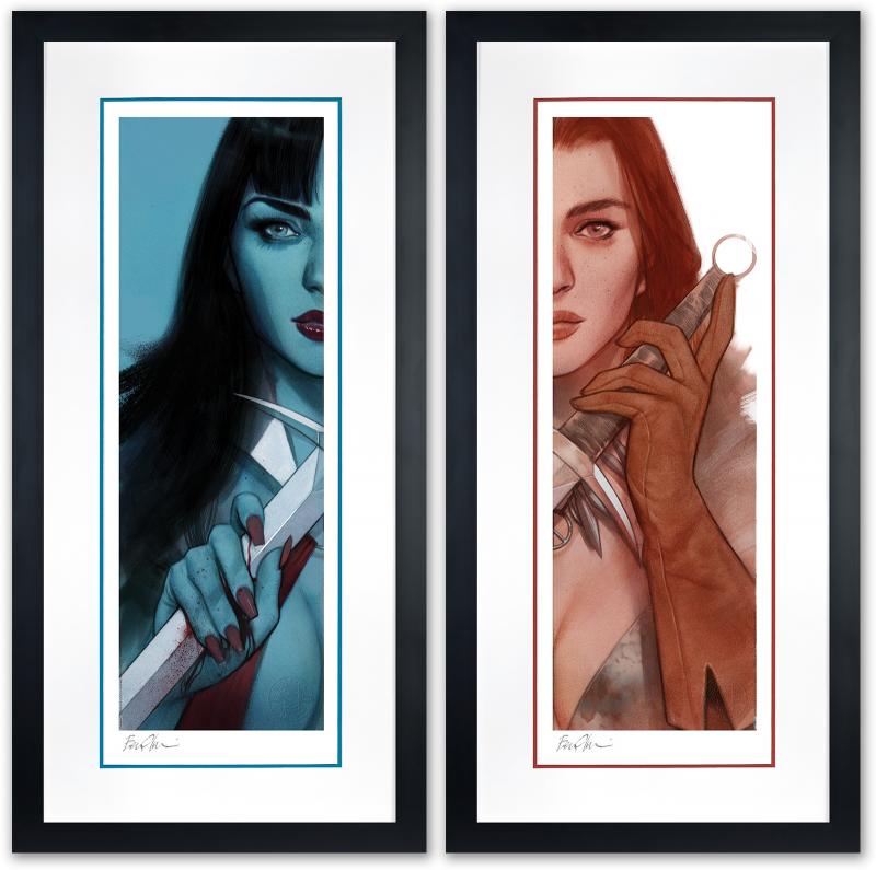 Vampirella & Red Sonja: Framed Set Art Print -