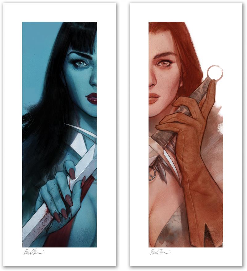 Vampirella & Red Sonja: Unframed Set Art Print -