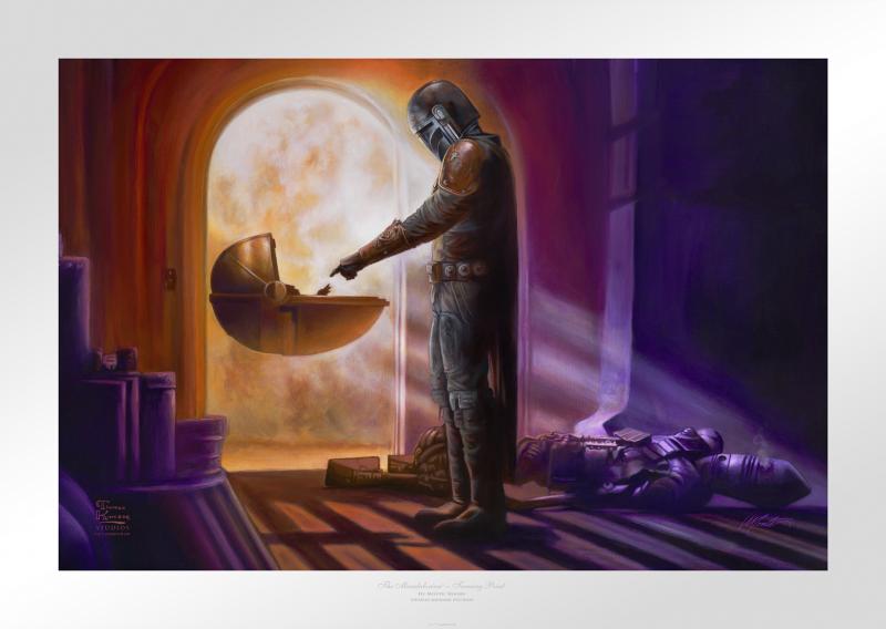 The Mandalorian: Turning Point Art Print - 18 x 27 Limited Edition Paper by Thomas Kinkade Studios