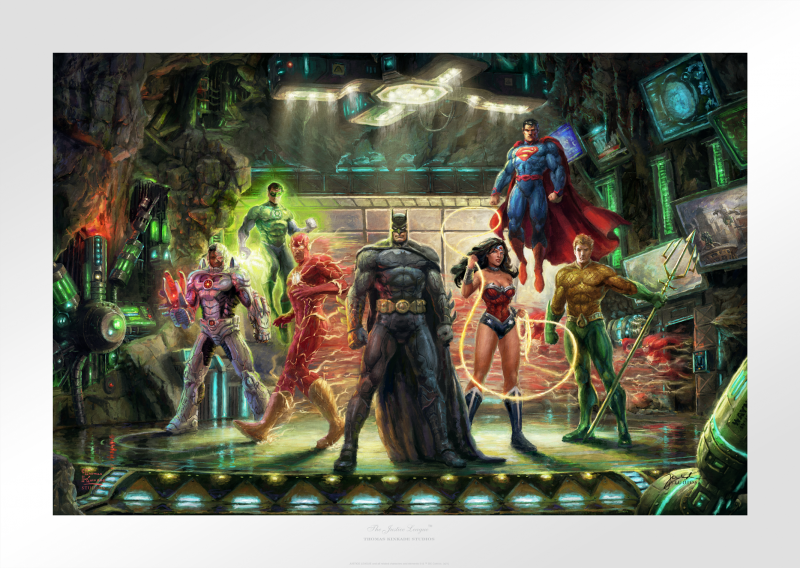 The Justice League Art Print - 18 x 27 Limited Edition Paper by Thomas Kinkade Studios