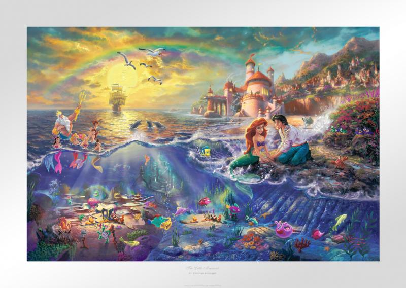 The Little Mermaid Art Print - 12 x 18 Limited Edition Paper by Thomas Kinkade Studios
