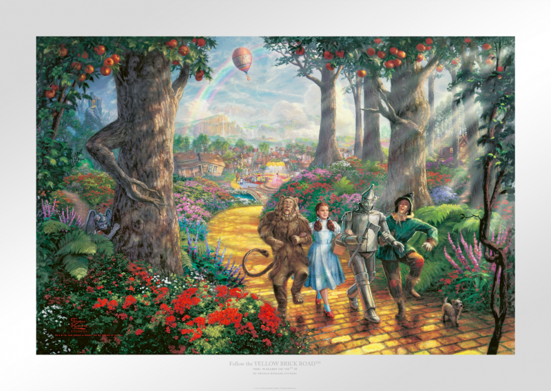 Follow the YELLOW BRICK ROAD™ Art Print - 12 x 18 Limited Edition Paper by Thomas Kinkade Studios