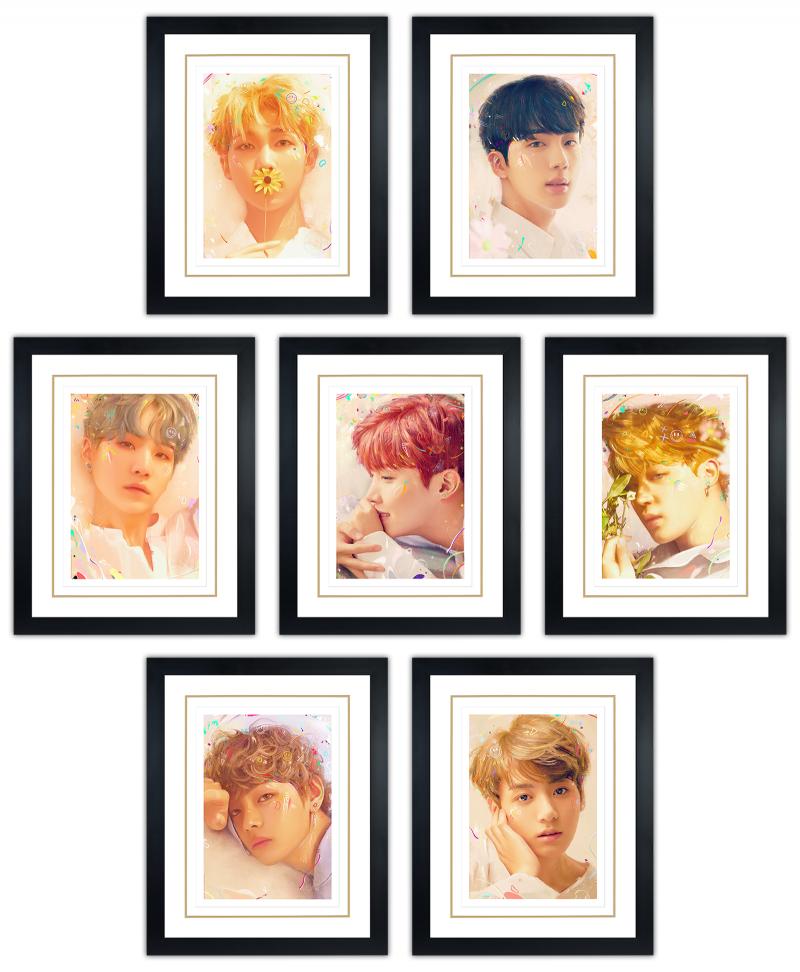 BTS: Love Yourself Art Print - Portrait Set
