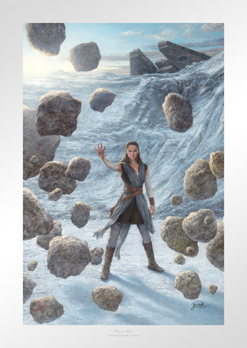 Rey of Hope Art Print - 27 x 18 Limited Edition Paper by Thomas Kinkade Studios