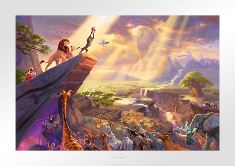 The Lion King Art Print - 12 x 18 Limited Edition Paper by Thomas Kinkade Studios