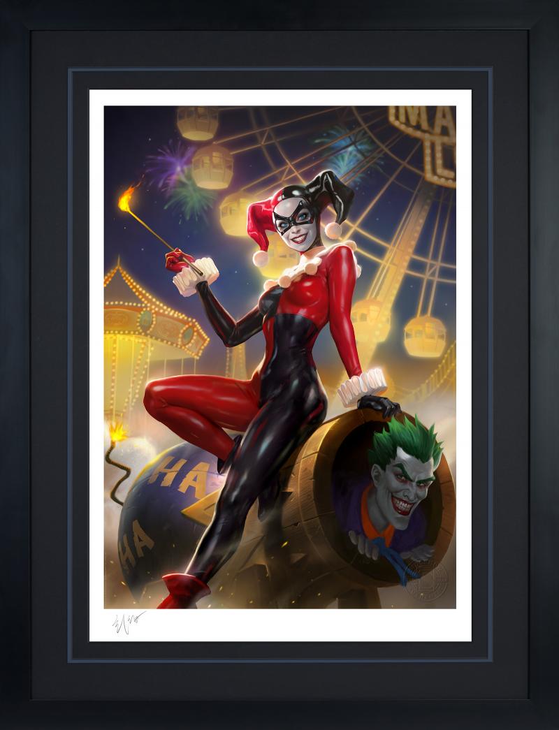 Harley Quinn & The Joker Art Print -