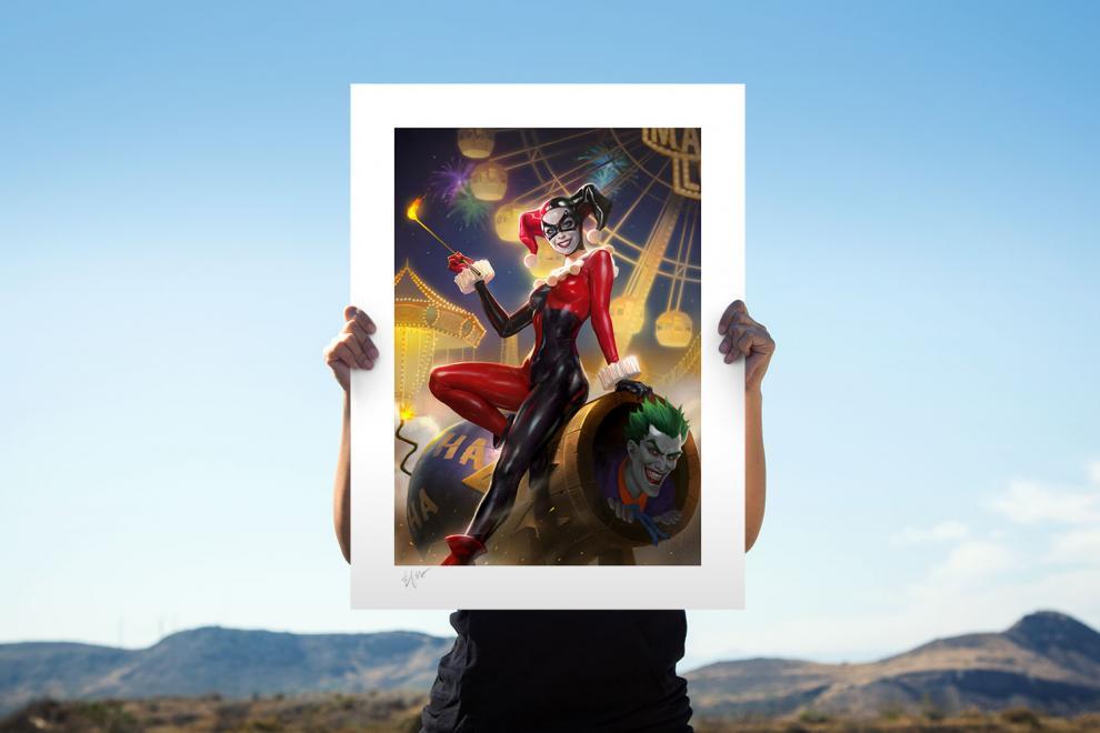 Harley Quinn & The Joker Fine Art Print by Heonhwa Choe