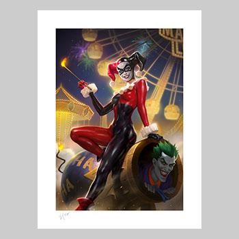 Harley Quinn & The Joker Art Print