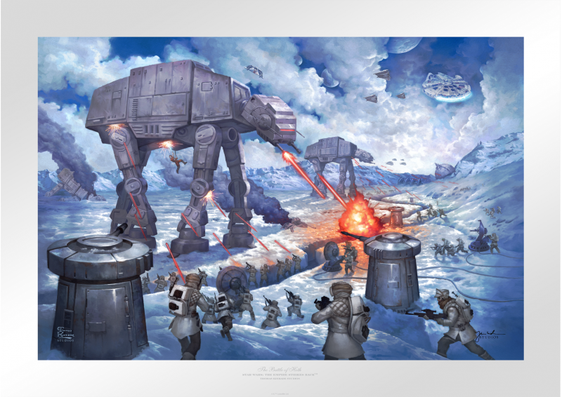 The Battle of Hoth Art Print - 18 x 27 Limited Edition Paper by Thomas Kinkade Studios