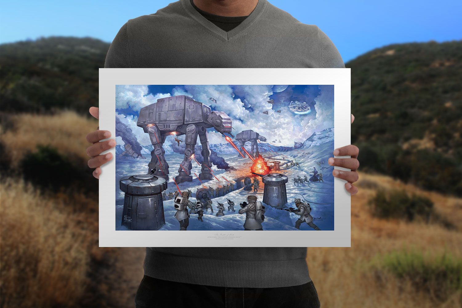 The Battle of Hoth Art Print feature image