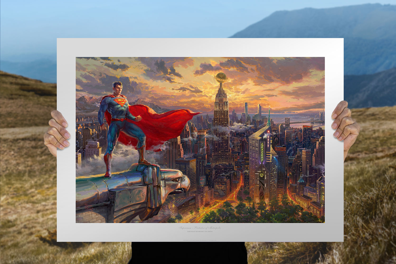Superman - Protector of Metropolis Art Print feature image
