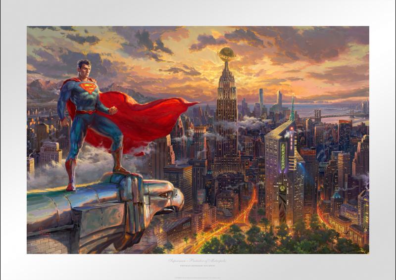 Superman - Protector of Metropolis Art Print - 18 x 27 Limited Edition Paper by Thomas Kinkade Studios