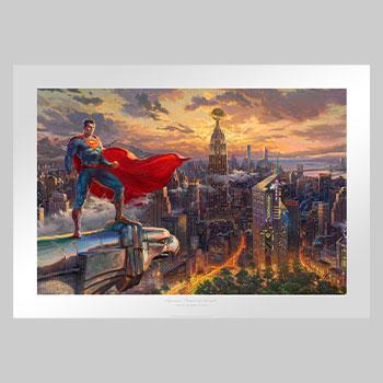 Superman - Protector of Metropolis Art Print