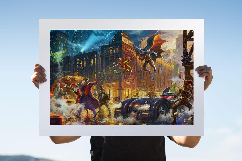 The Dark Knight Saves Gotham City Art Print feature image