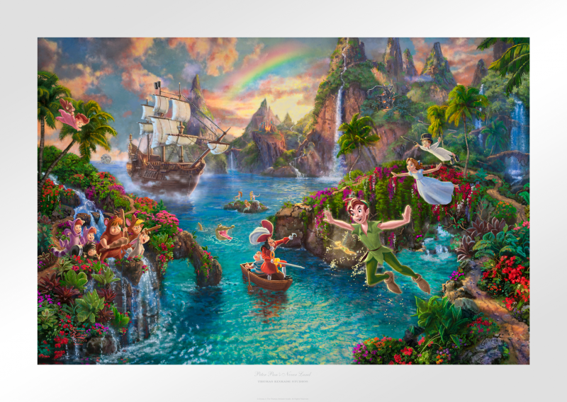 Peter Pan's Never Land Art Print - 12 x 18 Limited Edition Paper by Thomas Kinkade Studios