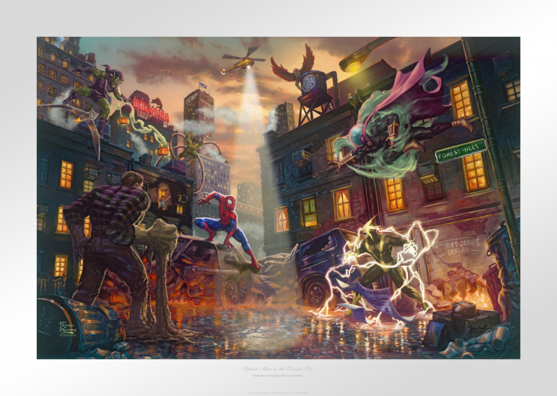 Spider-Man vs. the Sinister Six Art Print - 18 x 27 Limited Edition Paper by Thomas Kinkade Studios