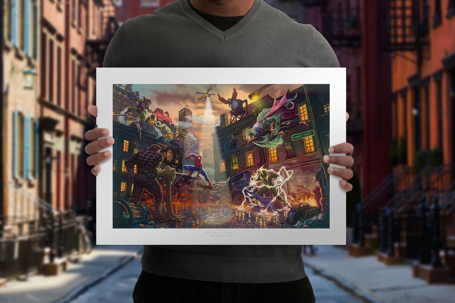 Spider-Man vs. the Sinister Six Art Print feature image