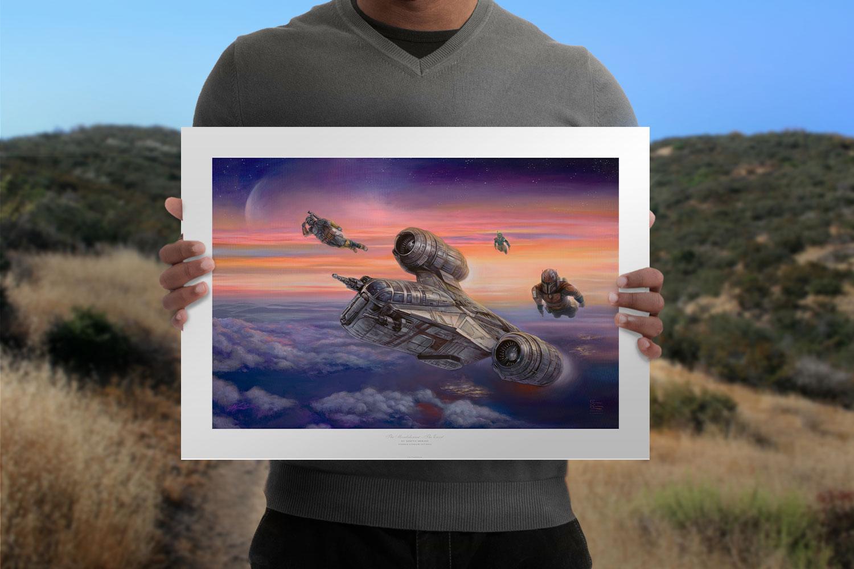 The Mandalorian - The Escort Art Print feature image