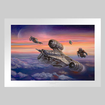 The Mandalorian - The Escort Art Print