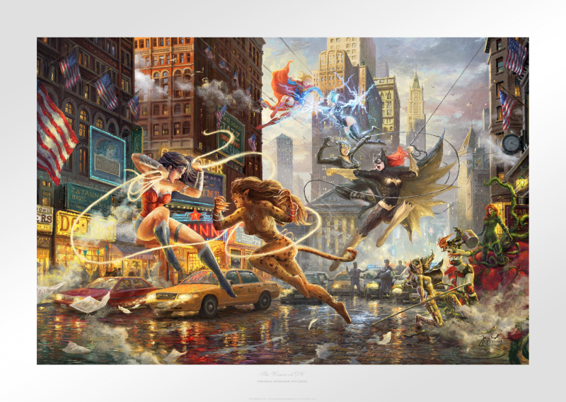 The Women of DC Art Print - 18 x 27 Limited Edition Paper by Thomas Kinkade Studios