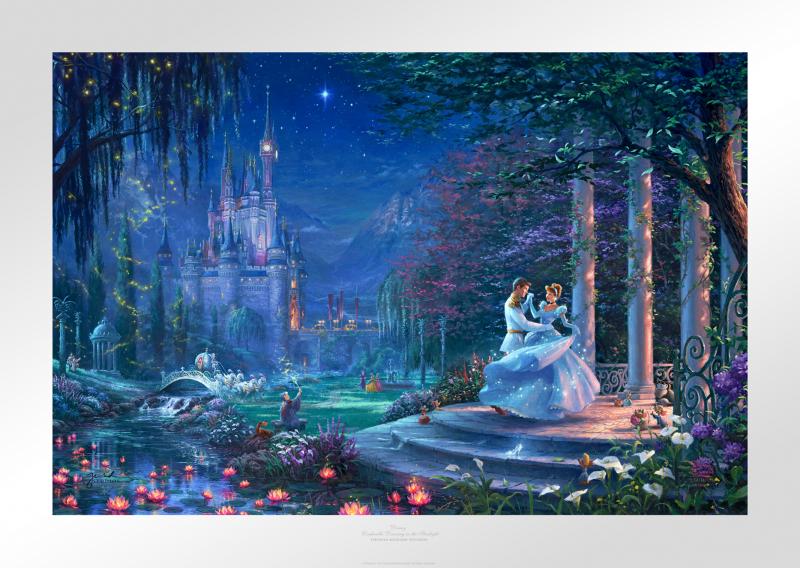 Cinderella Dancing in the Starlight Art Print -