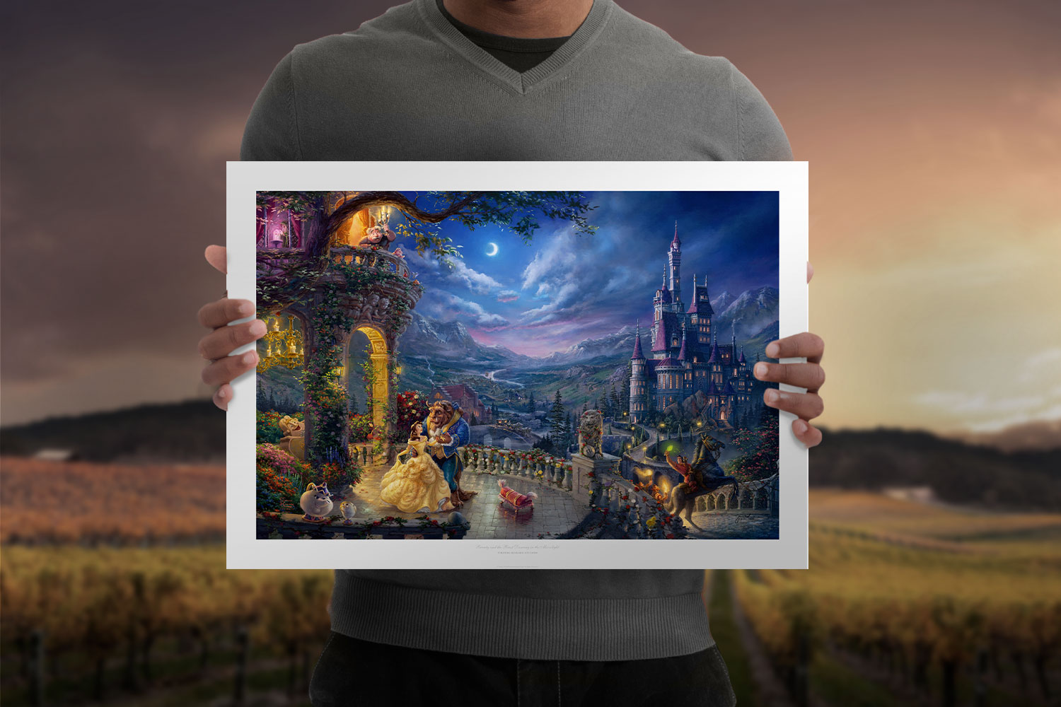Beauty and the Beast Dancing in the Moonlight Art Print feature image