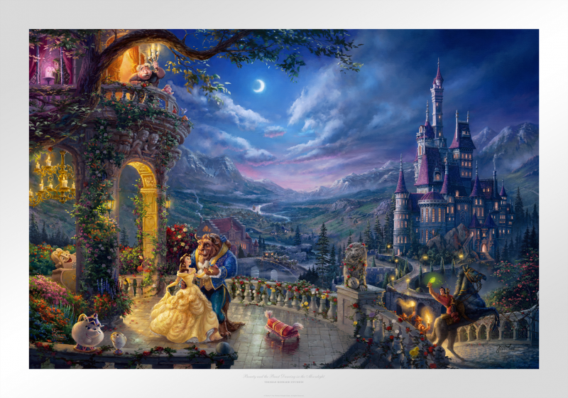 Beauty and the Beast Dancing in the Moonlight Art Print -
